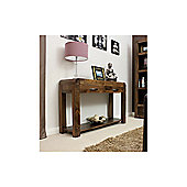 Baumhaus Shiro Console Table in Walnut
