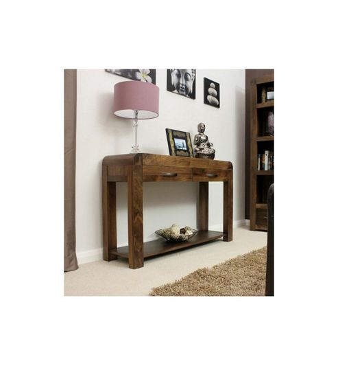 Buy Baumhaus Shiro Console Table in Walnut from our  : 300 2285PI1000015MNwid493ampht538 from www.tesco.com size 493 x 533 jpeg 20kB