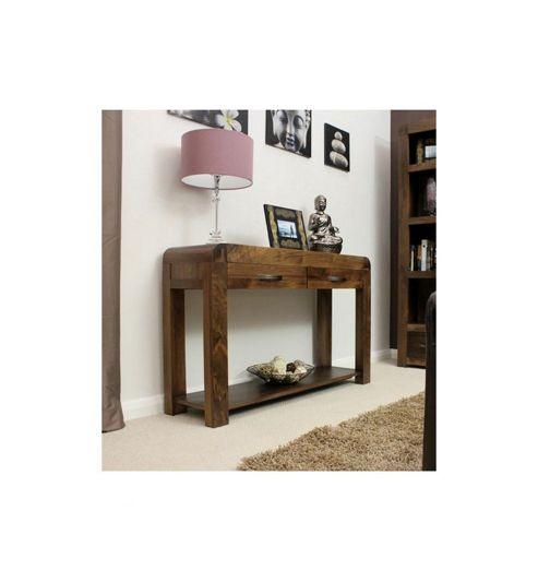 Baumhaus Shiro Console Table in Walnut