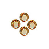 Mother of Pearl Oval Dress Studs