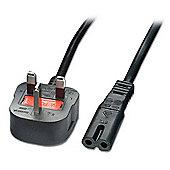 LINDY Mains Power Lead (Fig. 8) UK 3 Pin Plug Black 3m