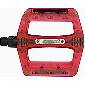 Acor BMX/Freeride Platform Pedals: Red.