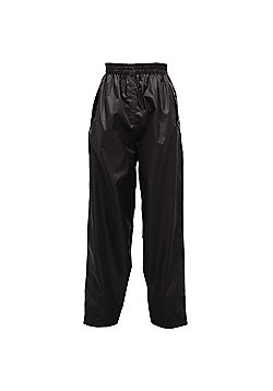 Regatta Kids Pack It Waterproof Overtrousers - Black
