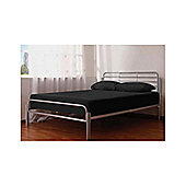 Home Zone Alpha Bed Frame in Silver - Double