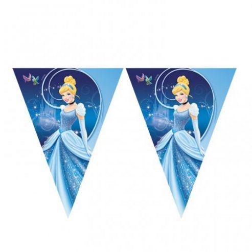 Party - Disney Cinderella Flag Banner - Amscan