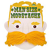 Man Size Blond Moustache