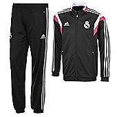 2014-15 Real Madrid Adidas Presentation Tracksuit (Black) - Black