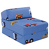 Children's Z Bed - Toy Trucks
