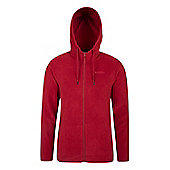 Camber Mens Micro Fleece Microfleece Hoody - Red