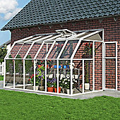 Rion sun room clear glazing 6X12 white extruded resin frame