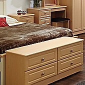 Welcome Furniture Pembroke 4 Drawer Bed Box - Light Oak