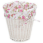 Tesco White Wicker Lined Bin