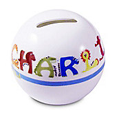 Personalised Blue Animal Money Box