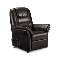 Julian Bowen Riva Rise Recliner in Antique Brown