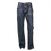 "Ciro Citterio Denim Straight Cut Mens Jeans - 34"" Leg - Mid blue"