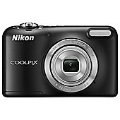 Nikon Coolpix L31 Digital Camera, Black, 16MP, 5x Optical Zoom