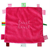 Label Label Square Comfort Blankie (Pink/Fuchsia)