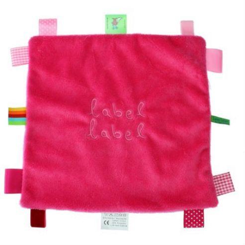 Label Label Square Comfort Blankie (Pink/Fuchsia)