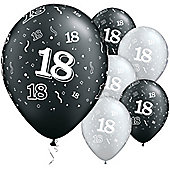 11' 18th Around Black & Silver (25pk)