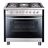 Matrix MR111SS Single Oven Multifunction 90cm Dual Fuel Range Cooker - Stainless Steel