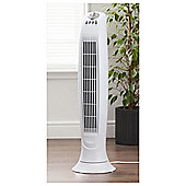 Tesco TF15 Tower Fan Shiny White