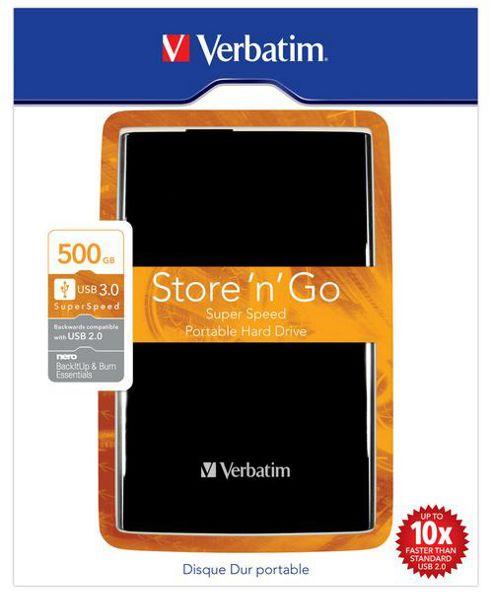 Verbatim 500GB USB 3.0 External Hard Drive
