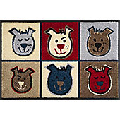 Wash & Dry by Kleen-Tex Woof Flat Bordered Rug - 50cmx75cm
