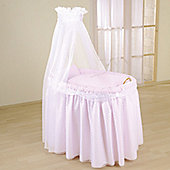 Leipold Dream Full Length Drape Crib in Pink