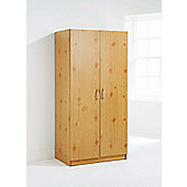 Elements Kirkland Shipley 2 Door Wardrobe - Pine