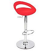 Eliza Tinsley Stylish modern look adjustable barstool - Red