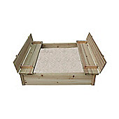 Bentley Garden Wooden Sand Pit With Seat & Lid