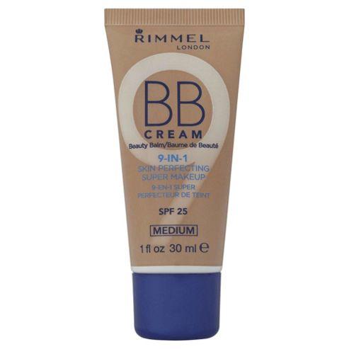 Rimmel London BB Cream 9-in-1 Skin Perfecting Super Makeup SPF 25 Medium 30ml