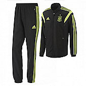 2014-15 Spain Adidas Presentation Tracksuit (Black) - Black