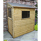6ft x 3ft Shiplap Wall Shed 6 x 3 Garden Wooden Shed 6x3