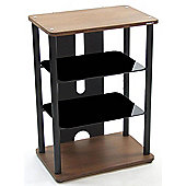 Atacama Elara 3-600 CM Satin Black and Dark Bamboo Hifi Stand