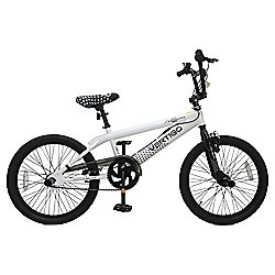 "Vertigo Freestyle 20"" BMX Bike, White"