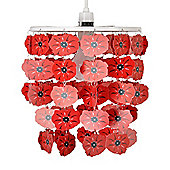 Poppy Ceiling Pendant Light Shade in Red
