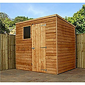 7ft x 5ft Overlap Pent Shed 7 x 5 Garden Wooden Shed