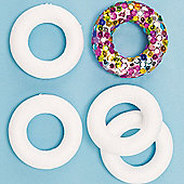 Children's Crafts Polystyrene Wreaths (Pack Of 10)