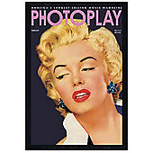 Marilyn Monroe Black Wooden Framed Photoplay Cover with Poster