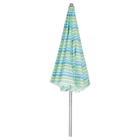 Tesco Garden Parasol 1.5m - Blue Stripe