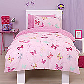 Flutter Around, Girls Butterfly Junior Bedding