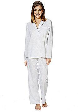 F&F Paisley Print Pyjamas - Grey