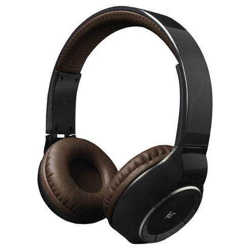 KitSound Arena Bluetooth On-Ear Headphones with Mic - Black