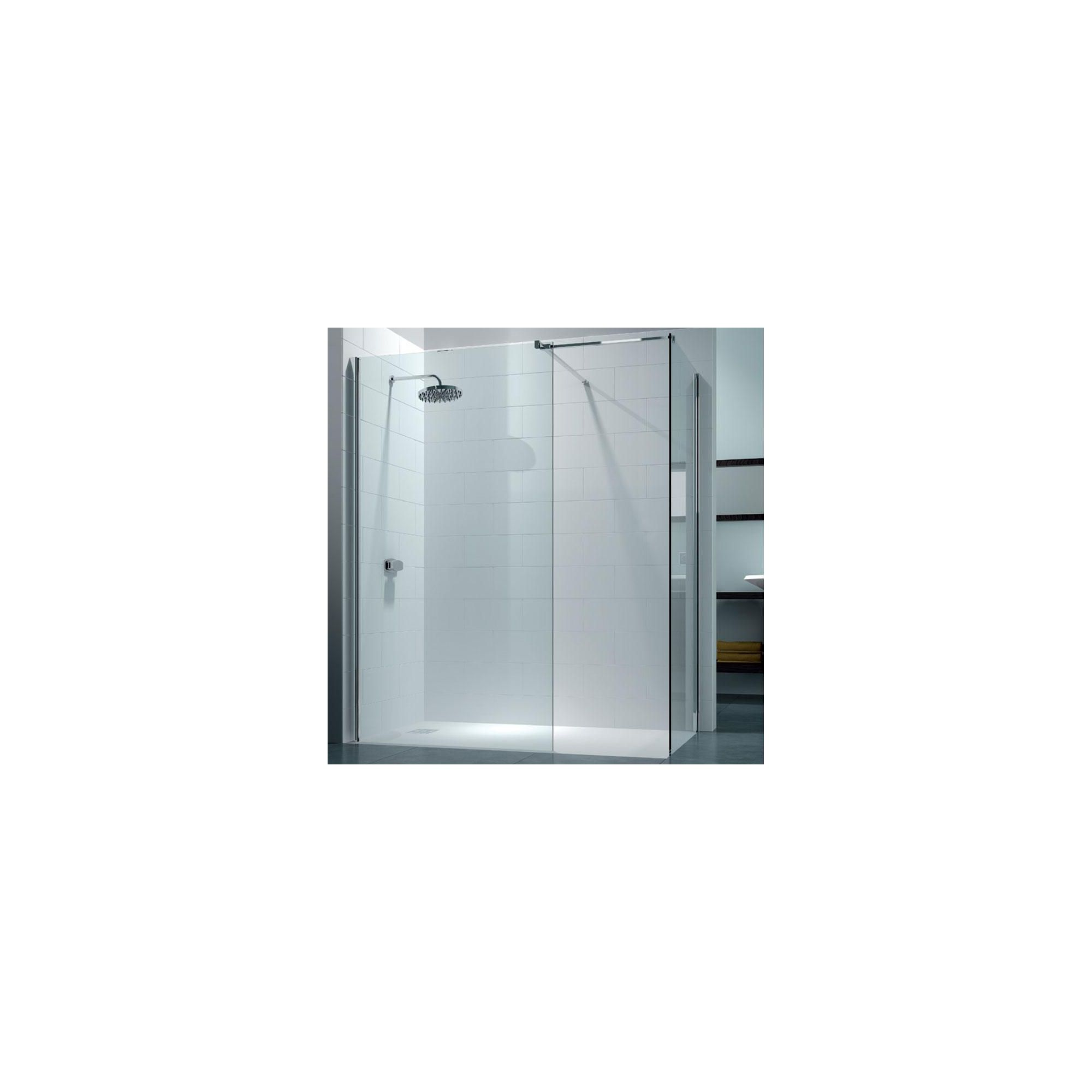 Merlyn Series 8 Walk-In Shower Enclosure, 1400mm x 800mm, 8mm Glass, excluding Tray at Tesco Direct