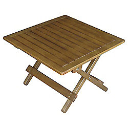 Windsor 45cm Wooden Folding Garden Side Table