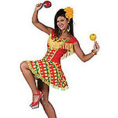 Mexican Lady Dress - Adult Costume Size: 12-14
