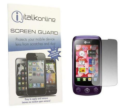 iTALKonline S-Protect LCD Screen Protector and Micro Cleaning Cloth - For  LG GS500 Cookie Plus
