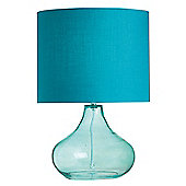 Endon Lighting Glass Table Lamp - Teal