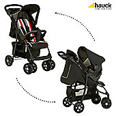 Hauck Shopper Shop N Drive Travel System, Rainbow/Black